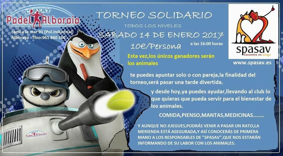 TORNEO SOLIDARIO DE PADEL